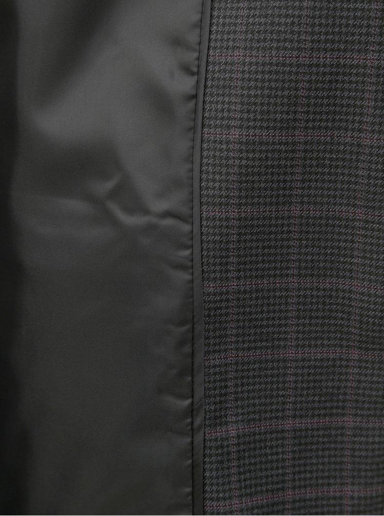 Tmavě šedé kostkované sako Dorothy Perkins
