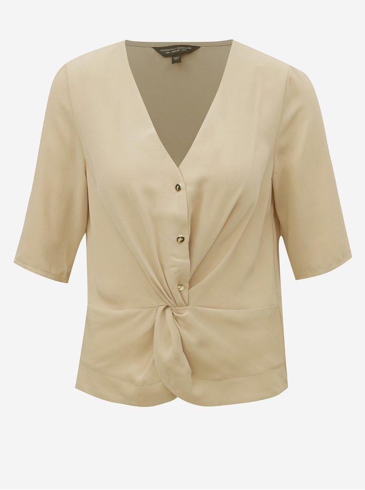 Bluza bej cu detaliu decorativ Dorothy Perkins