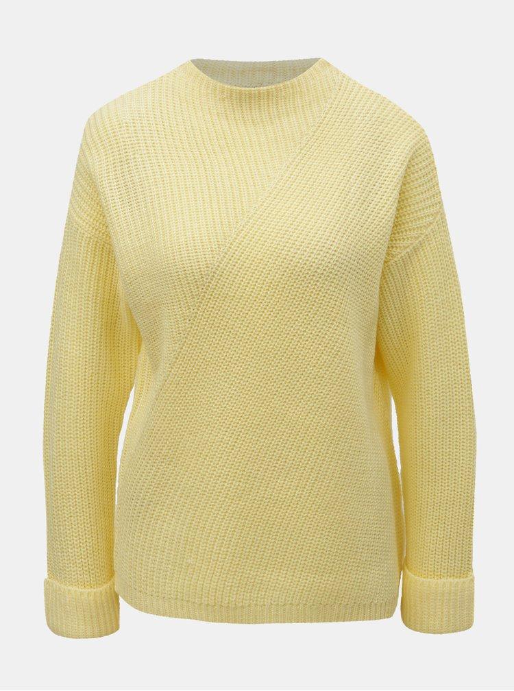 Žltý sveter so stojačikom Dorothy Perkins