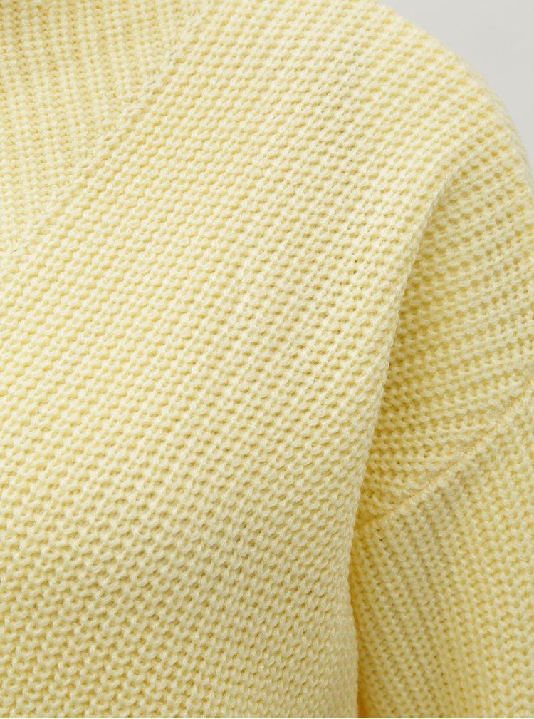 Světle žlutý svetr se stojáčkem Dorothy Perkins