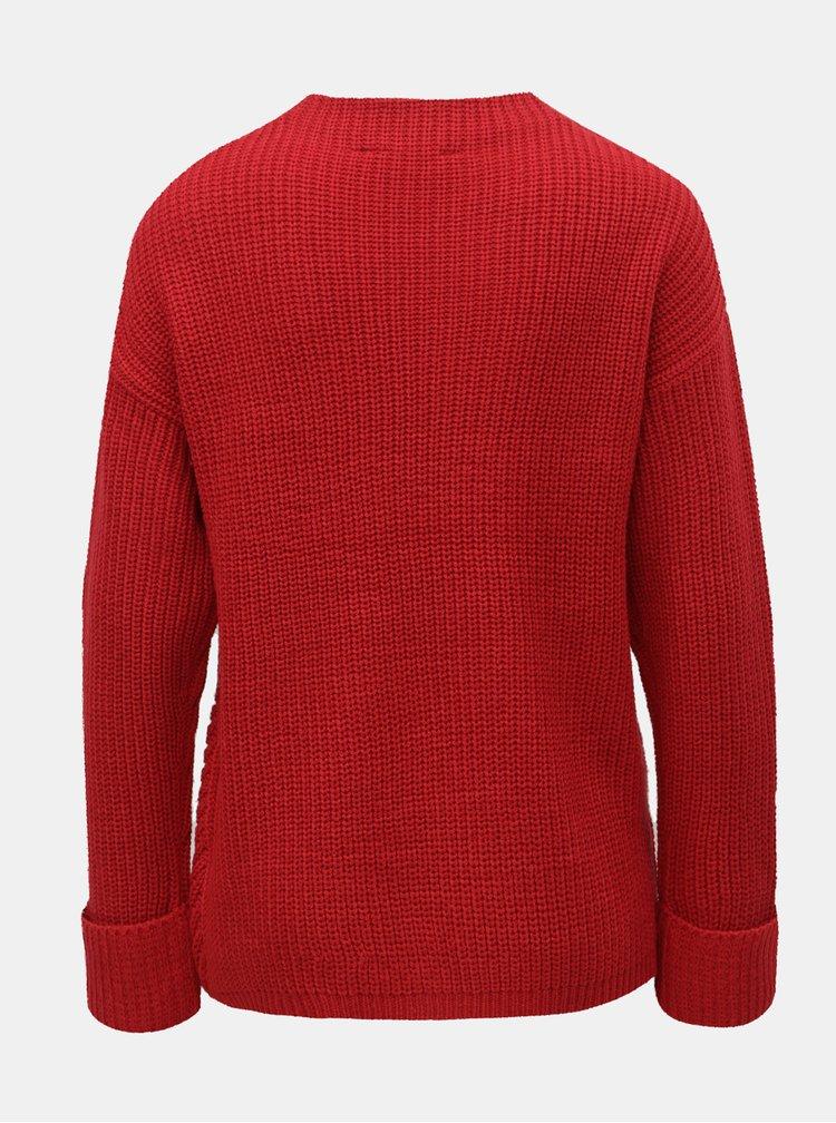 Červený sveter so stojačikom Dorothy Perkins