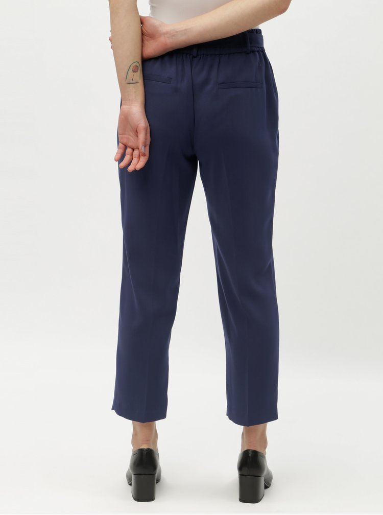 Pantaloni albastru inchis pana la glezne Dorothy Perkins