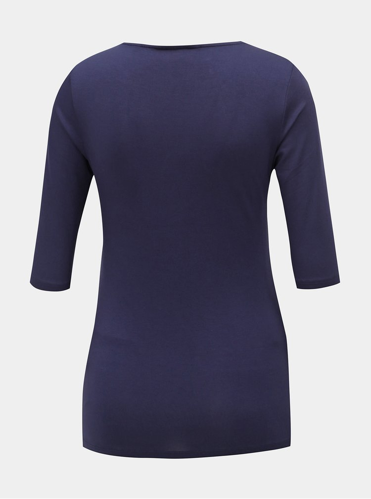 Tmavě modré těhotenské tričko s ozdobnou sponou Dorothy Perkins Maternity