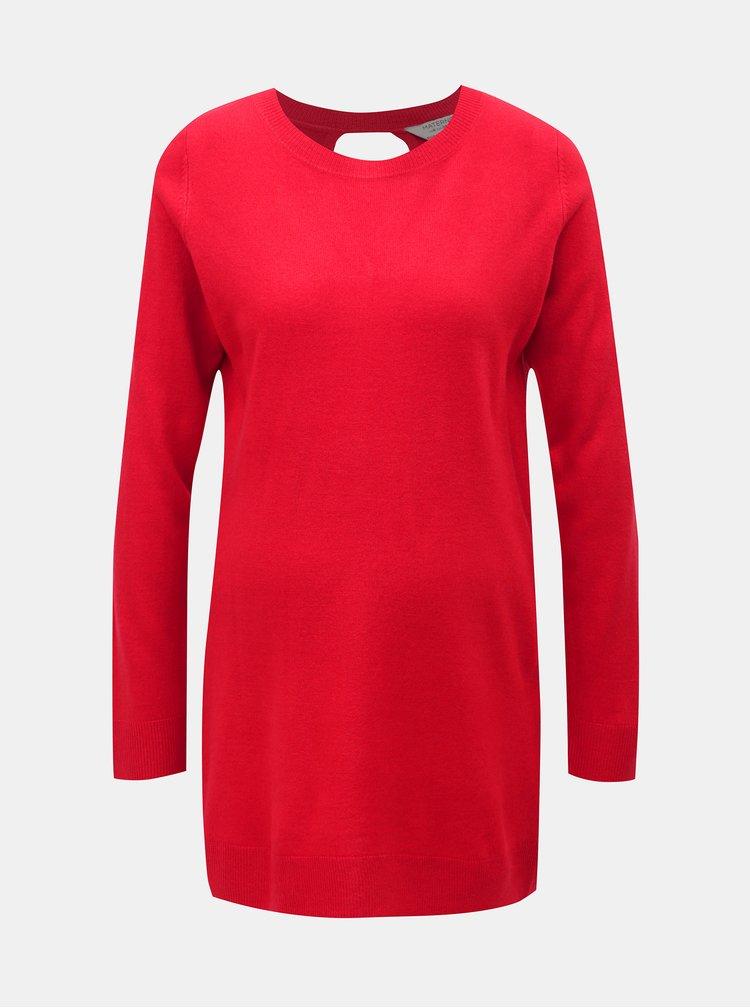 Červený tehotenský sveter s prestrihom na chrbte Dorothy Perkins Maternity