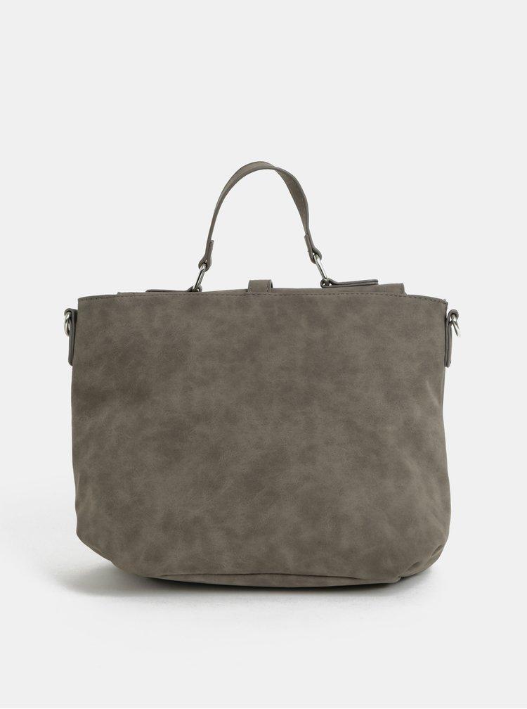 Šedá kabelka s ozdobnými zipy Dorothy Perkins