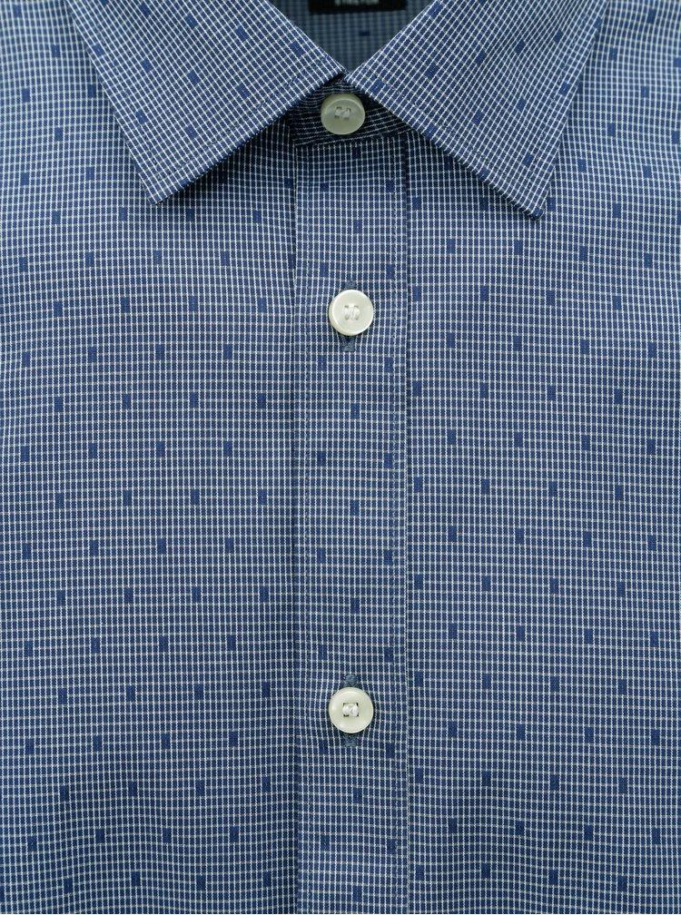 Modrá vzorovaná regular fit košile Selected Homme Regpen
