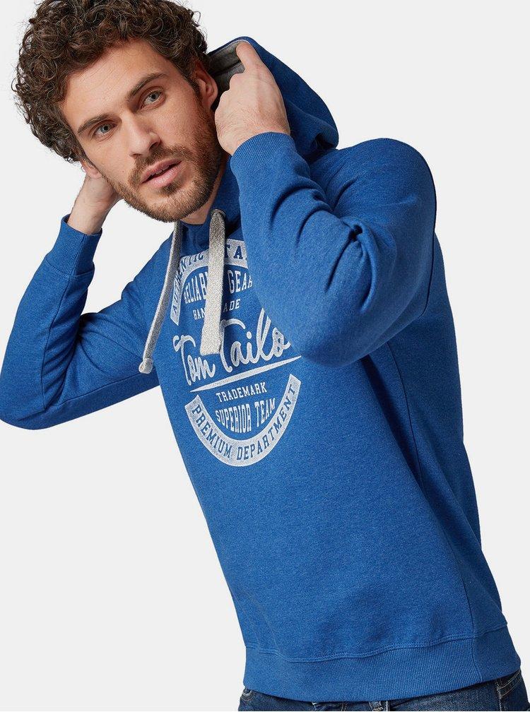 Hanorac barbatesc albastru cu imprimeu Tom Tailor