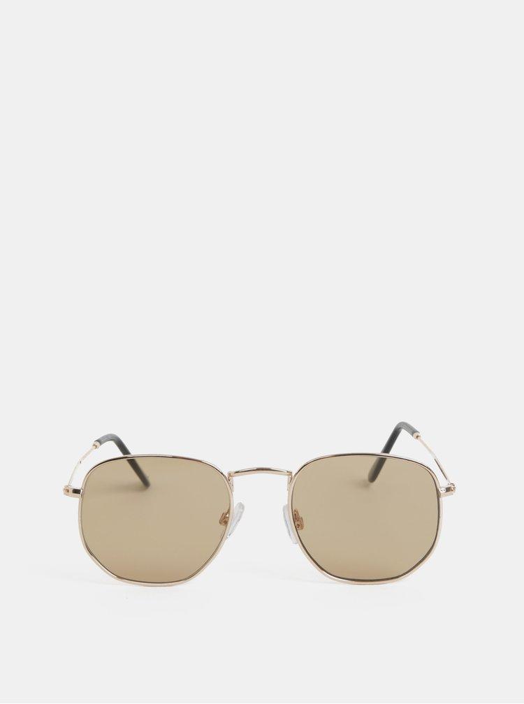 Sluneční brýle ve zlaté barvě Selected Homme Kristian
