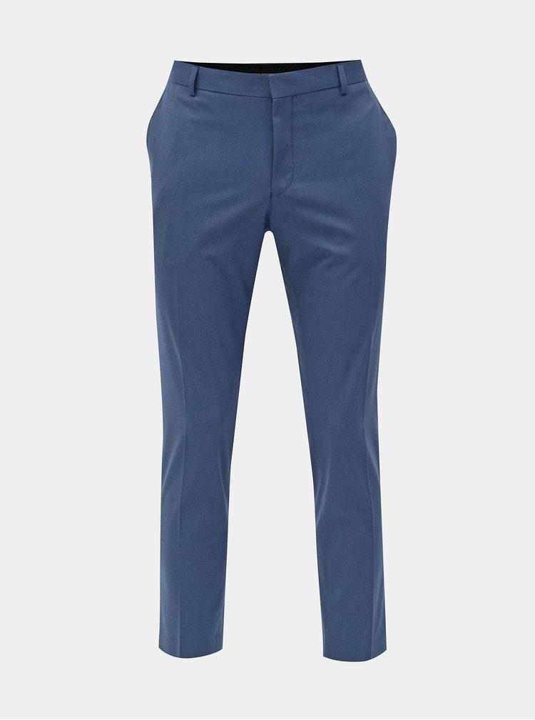 Modré oblekové slim kalhoty Selected Homme Logan