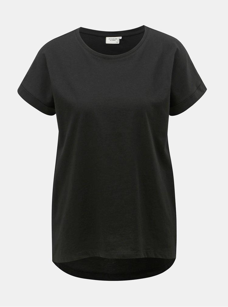 Tricou basic negru Jacqueline de Yong Louisa