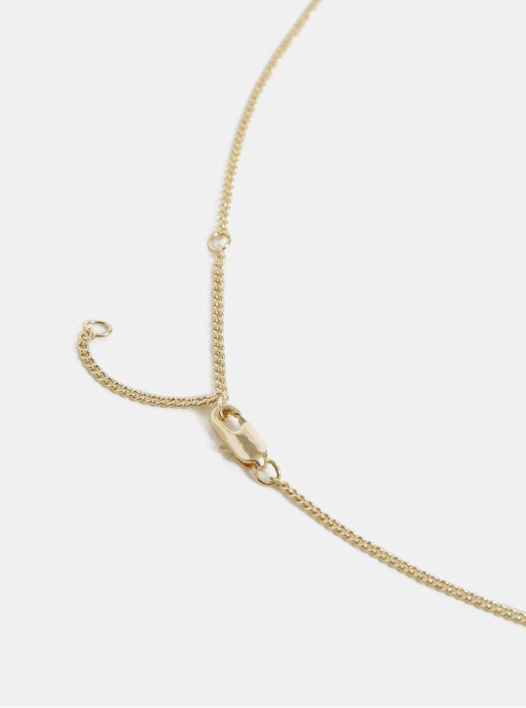 Colier auriu cu pandativ Pieces Lamona