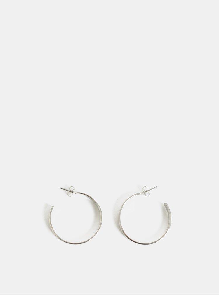 Kruhové náušnice ve stříbrné barvě Pieces Sandra