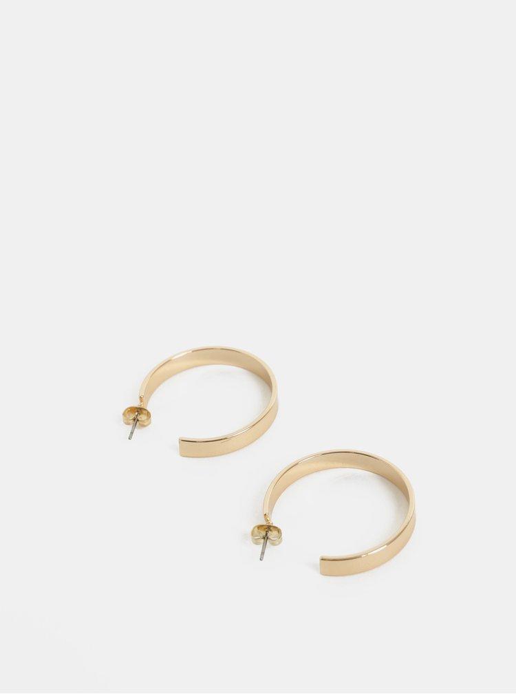 Kruhové náušnice ve zlaté barvě Pieces Sandra