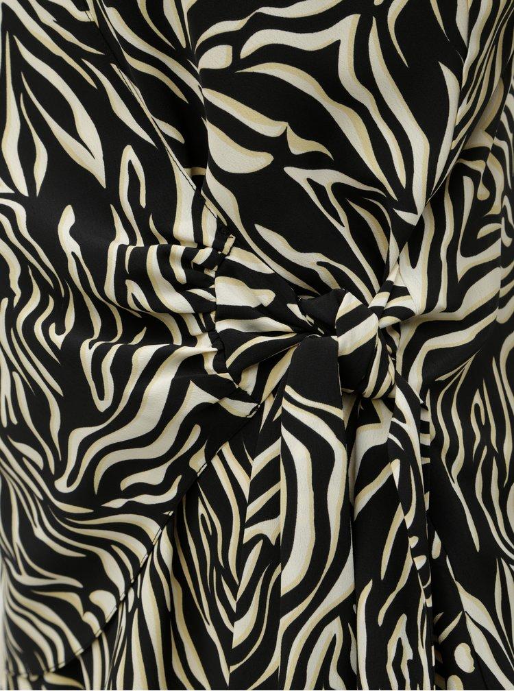 Černo-krémový top se zebrovaným vzorem Dorothy Perkins