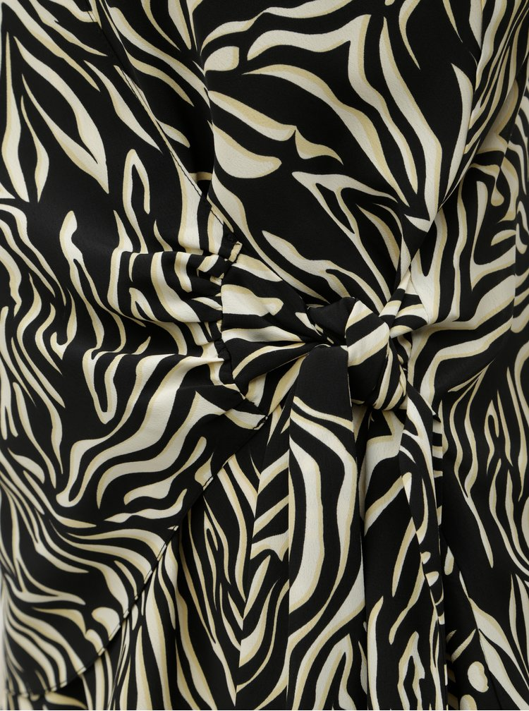 Top negru-crem cu motiv zebra Dorothy Perkins