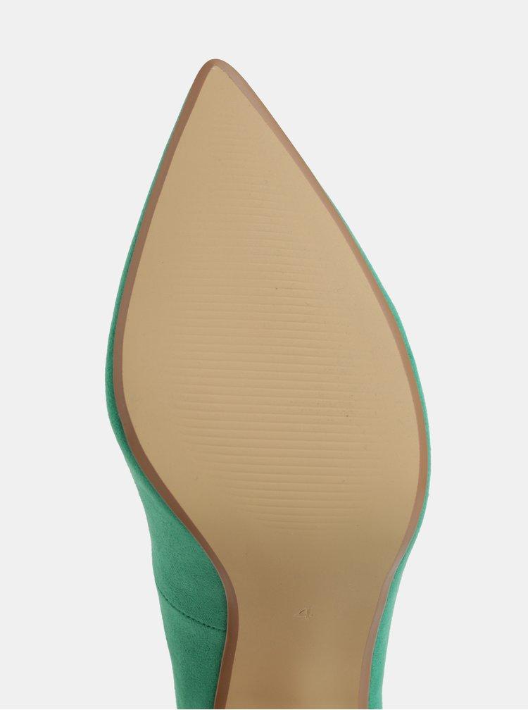 Zelené lodičky v semišové úpravě Dorothy Perkins