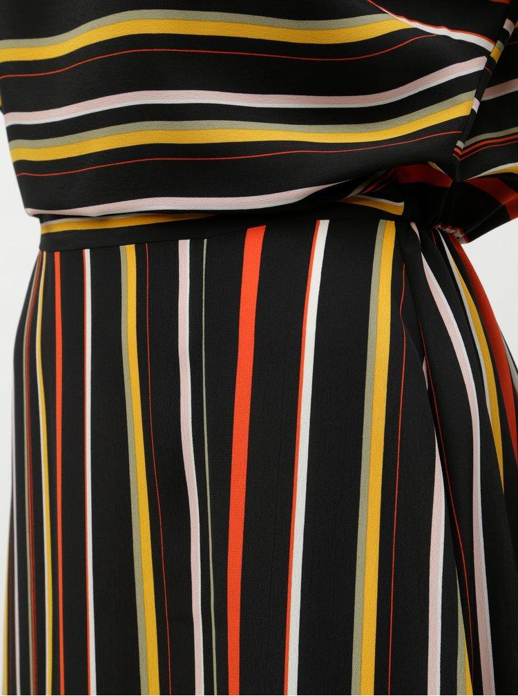 Červeno-černé pruhované maxišaty Dorothy Perkins