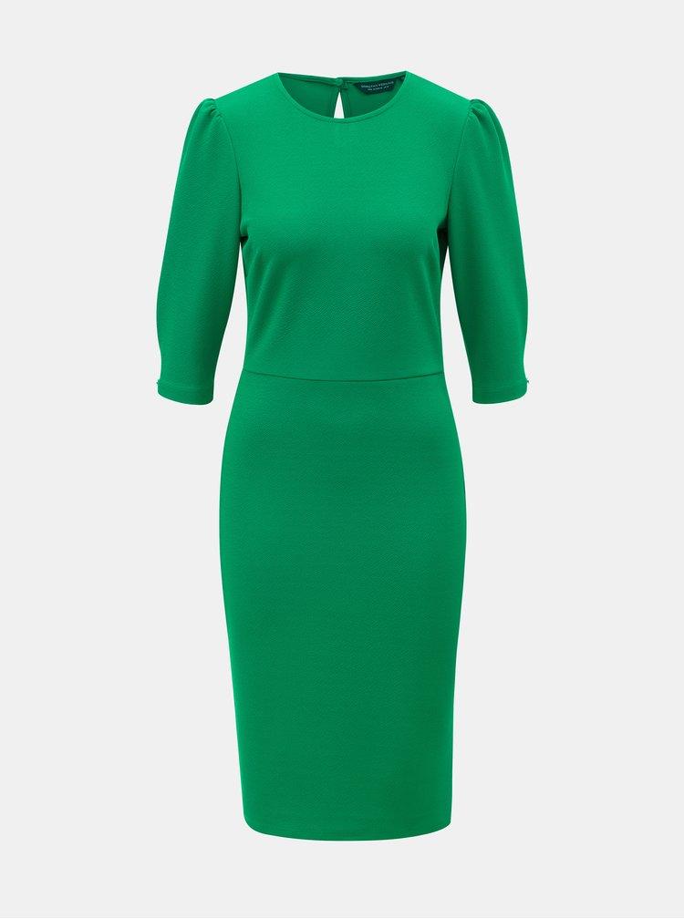 Zelené puzdrové šaty s 3/4 rukávom Dorothy Perkins