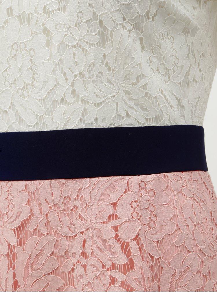 Bílo-růžové krajkové šaty Dorothy Perkins