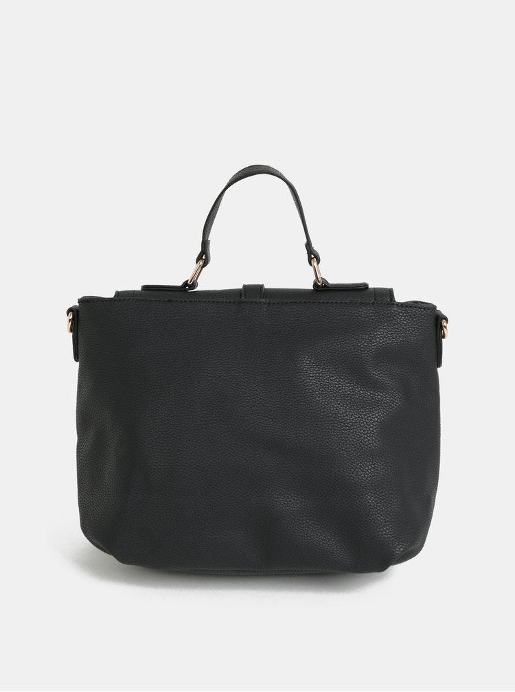 Čierna crossbody kabelka s ozdobnými zipsami Dorothy Perkins