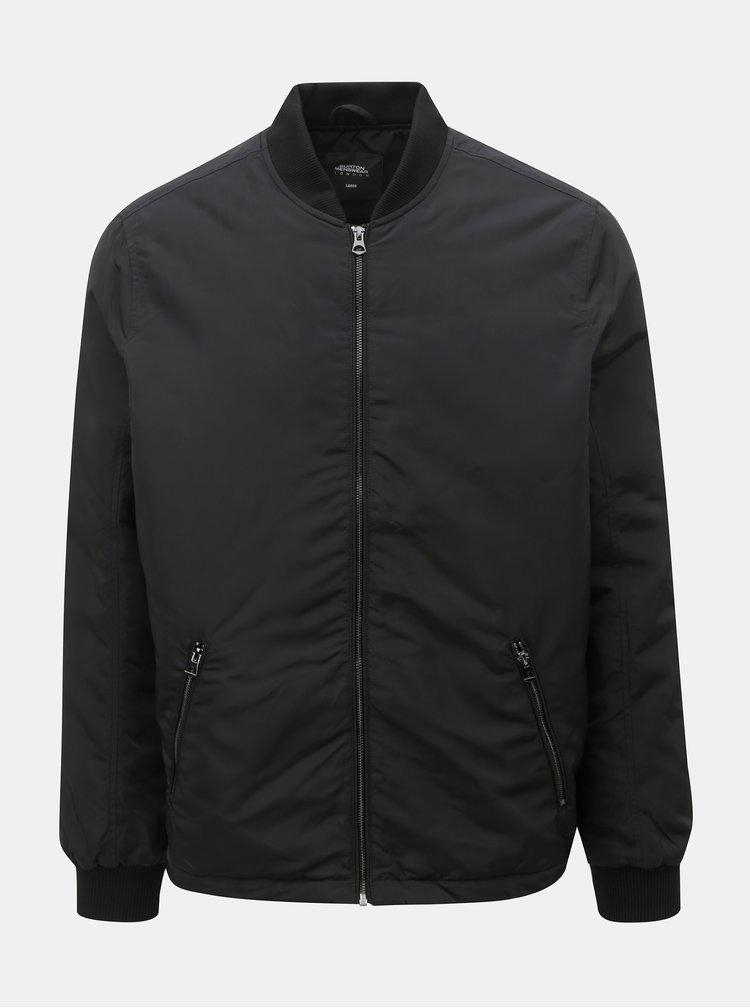 Čierny zimný bomber Burton Menswear London