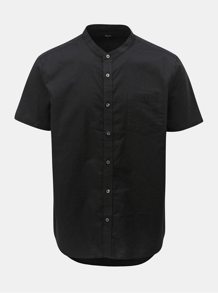 Čierna košeľa s krátkym rukávom Burton Menswear London