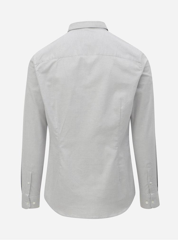 Světle šedá muscle fit košile Burton Menswear London