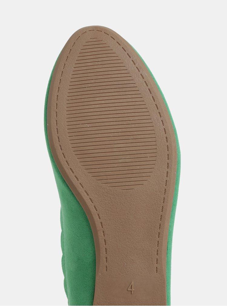 Zelené baleríny v semišovej úprave Dorothy Perkins