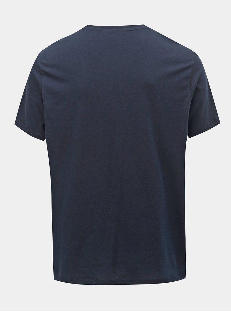Tmavě modré regular fit basic tričko Burton Menswear London
