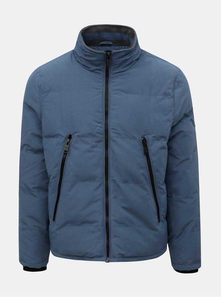 Modrá zimná bunda Burton Menswear London