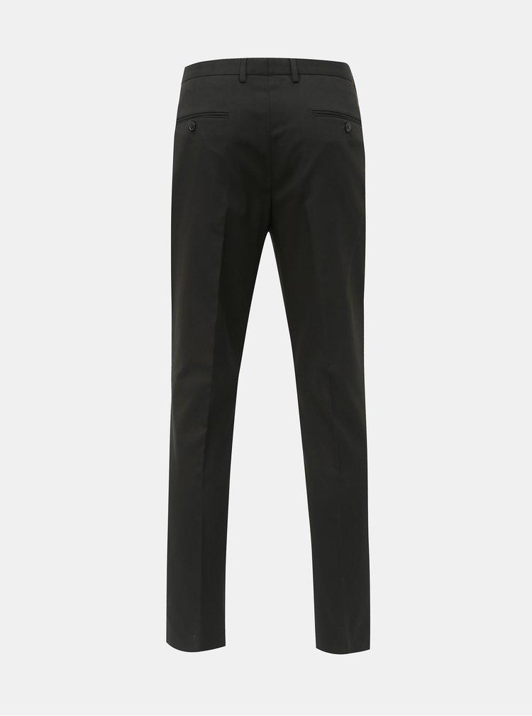 Čierne slim fit oblekové nohavice Burton Menswear London