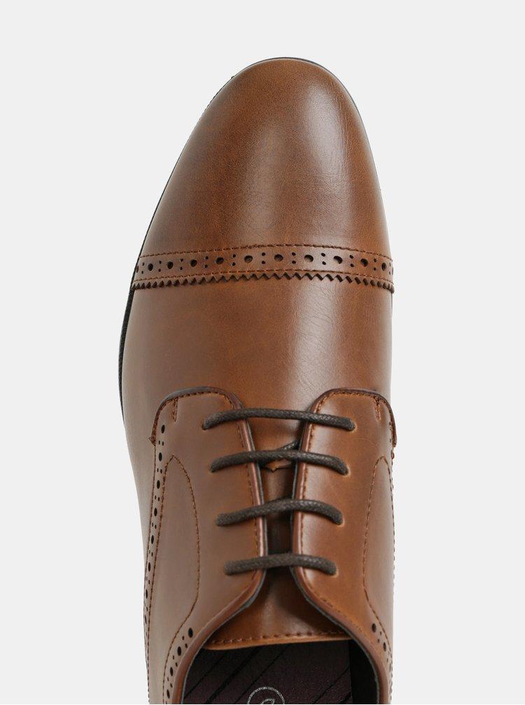 Hnedé pánske poltopánky Burton Menswear London