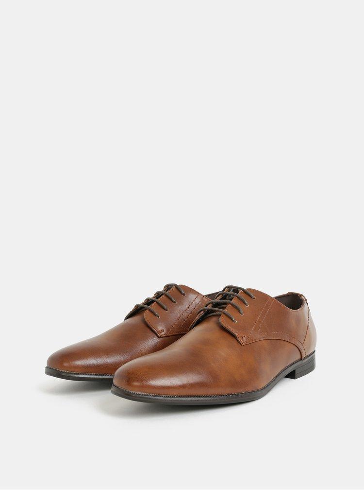 Pantofi barbatesti maro Burton Menswear London