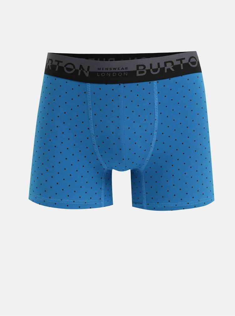 Sada tří boxerek v modré a šedé barvě Burton Menswear London