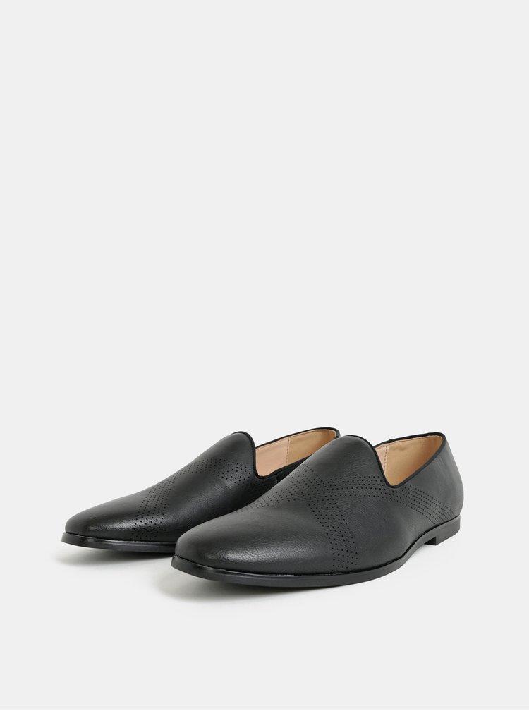 Černé pánské mokasíny Burton Menswear London