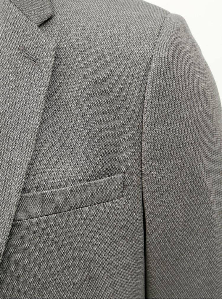 Šedé žíhané sako Burton Menswear London