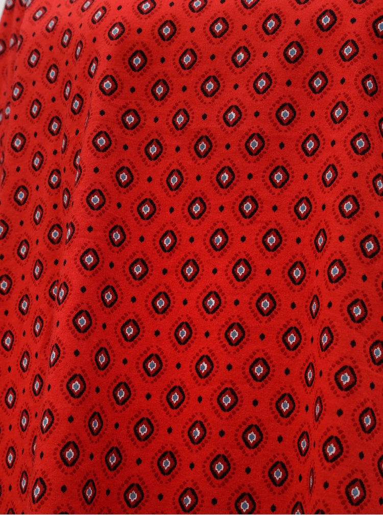 Červená vzorovaná halenka ONLY Olivia