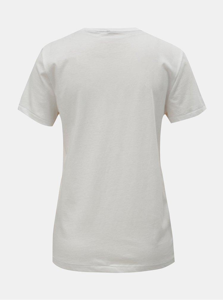 Bílé tričko s potiskem ONLY Dotti