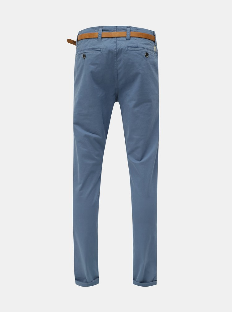 Pantaloni albastri chino cu curea Dstrezzed Presley