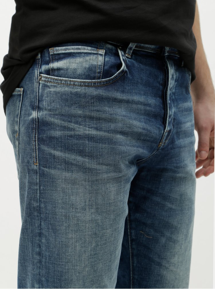 Blugi albastri tapered fit Selected Homme Toby