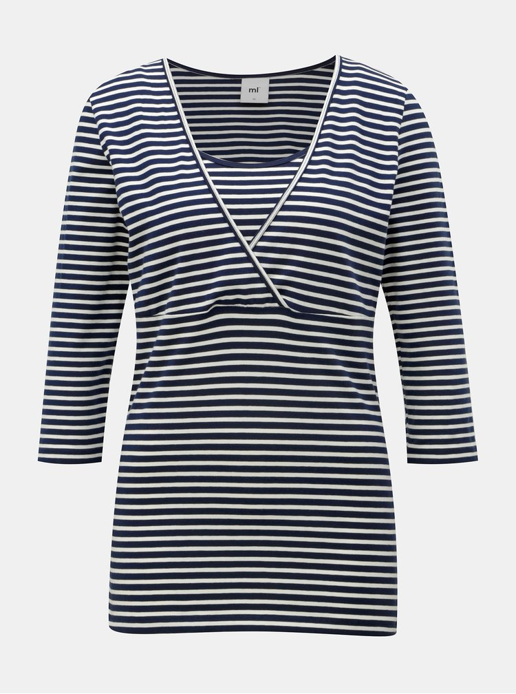 Set de 2 tricouri albastru si alb pentru alaptat Mama.licious Lea