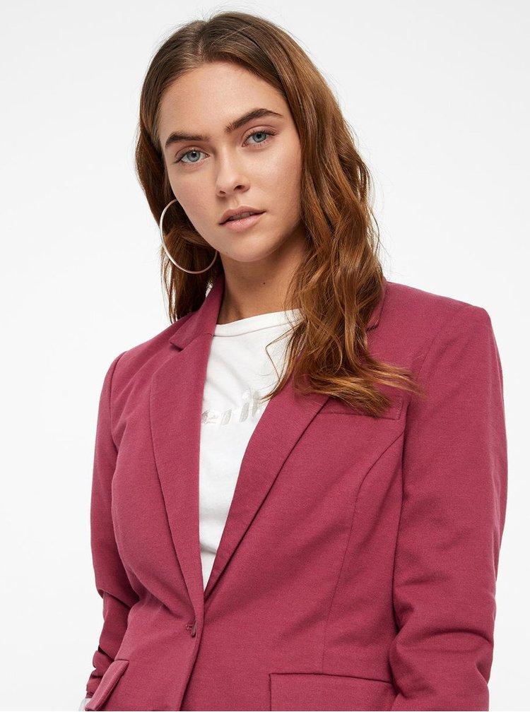Tmavě růžové sako s kapsami VERO MODA Haruki