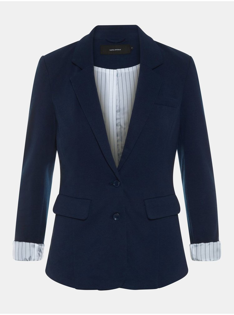 Tmavě modré sako s kapsami VERO MODA Haruki