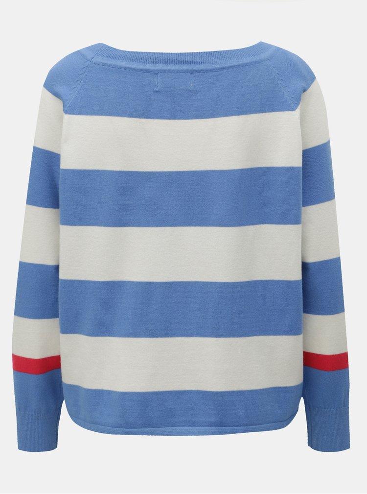 Bielo–modrý pruhovaný sveter ONLY Mette