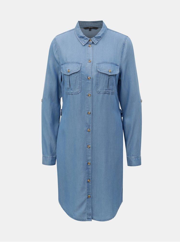 Modré džínové košilové šaty VERO MODA Mia