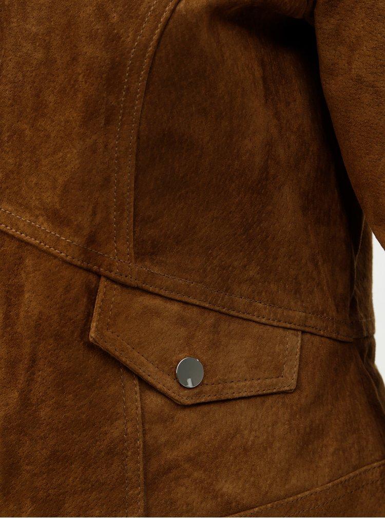 Hnedá semišová bunda VERO MODA Manon