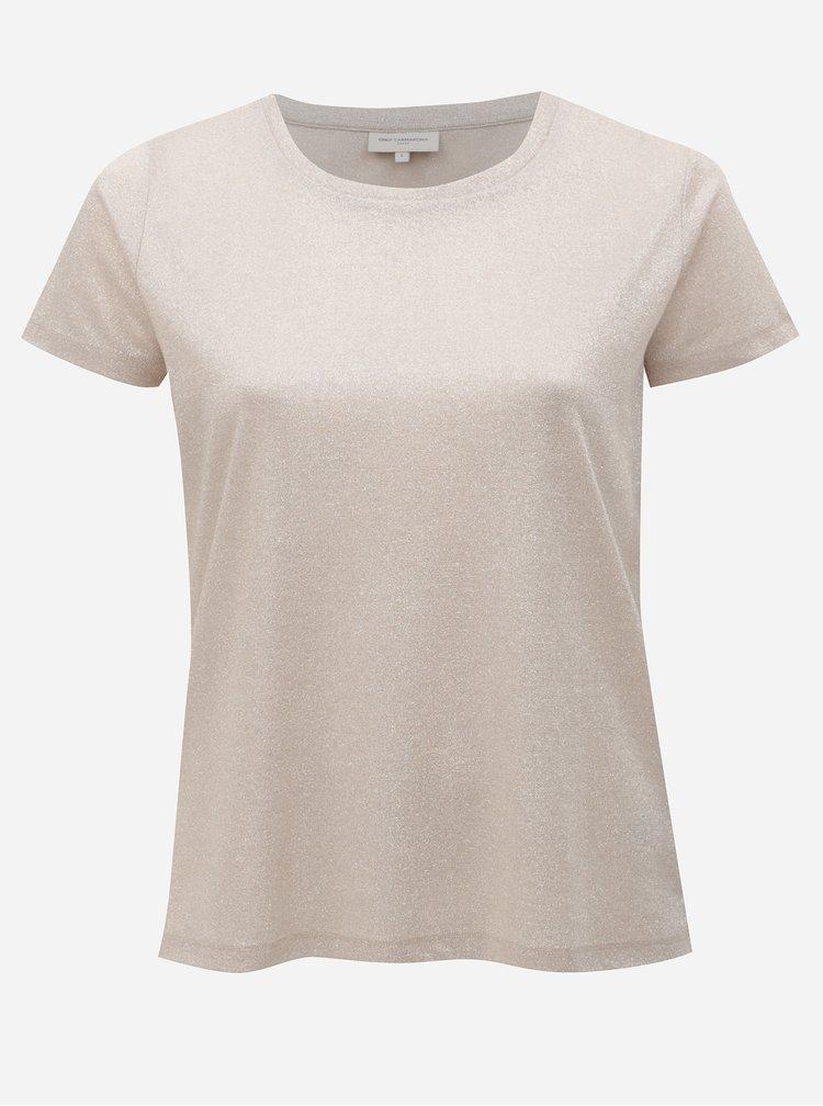Světle růžové třpytivé tričko ONLY CARMACOMA Rex