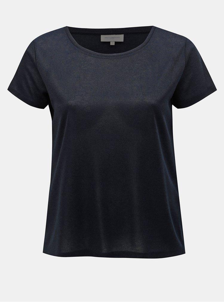 Tmavě modré třpytivé tričko ONLY CARMACOMA Rex