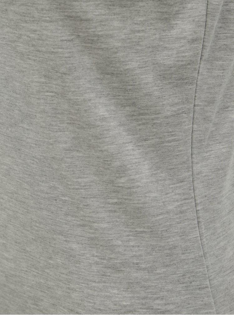 Šedé žíhané tričko bez rukávů VERO MODA Gava
