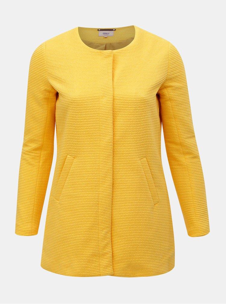 Žlutý žebrovaný lehký kabát ONLY CARMACOMA Toronto
